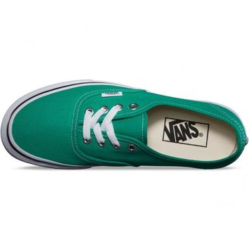 Vans Original Authentic Shoes - Emerald Green/True White