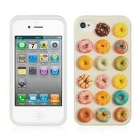 Tpu Cute Design IMD Case for Apple Iphone 4s 4 with Free Cute Pen (1 Color Random) (DONUTS)