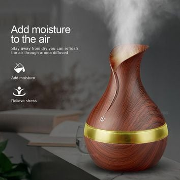 KBAYBO 300ml Aroma Essential Oil Diffuser Ultrasonic with LED Lights - NEW