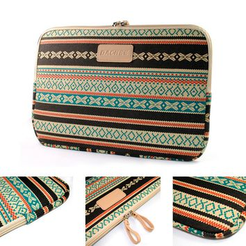 Bohemian Canvas Fabric Laptop Sleeve Case