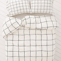 Wonky Grid Duvet Cover | Urban Outfitters