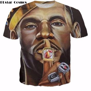 PLstar Cosmos hot sale Men Women brand T-shirts star Lebron James 3D Print fashion T Shirt 2017 summer style casual Tee Shirts