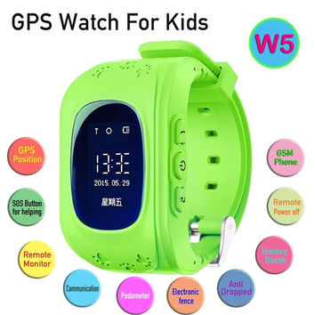 NEW Gooweel W5 GPS Tracker Watch For Kids children smart watch SOS Emergency Anti Lost GSM Phone App Bracelet Wristband Alarm = 1747750084