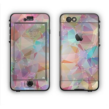 The Abstract Geometric Subtle Colored Connect Blocks Apple iPhone 6 Plus LifeProof Nuud Case Skin Set