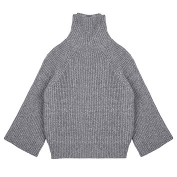 Wide Sleeve Funnelneck Sweater