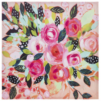 Pink Roses Painted Canvas Wall Decor | Hobby Lobby | 1795244