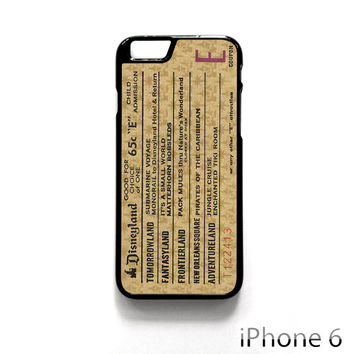 Disneyland E Ticket Disney for Iphone 4/4S Iphone 5/5S/5C Iphone 6/6S/6S Plus/6 Plus Phone case