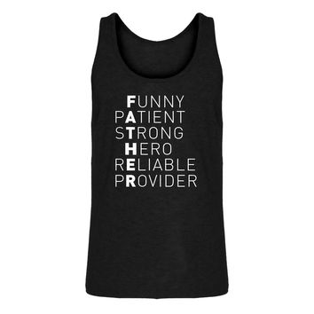 Mens Father Jersey Tank Top