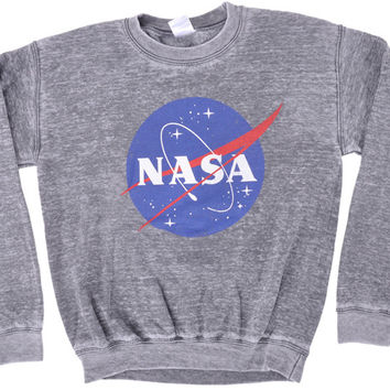 NASA-MENS CREWNECK GREY-