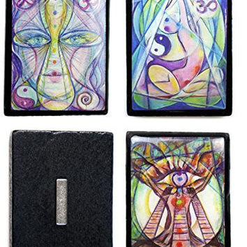 Metaphysical Interfaith Art Set of 3  Magnets