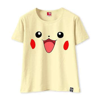 Tops and Tees T-Shirt 2017 Kawaii Pikachu T-shirt Women Short Sleeve T shirt Funny  Tee Charmander Bulbasaur Gengar Squirtle T-shirt AT_60_4 AT_60_4