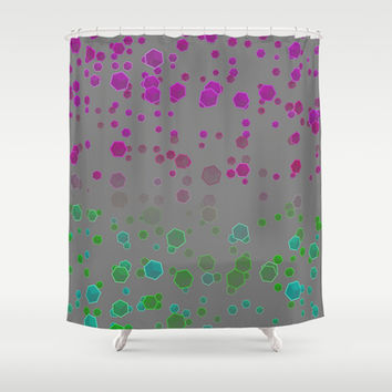 Gravity II Shower Curtain by SensualPatterns
