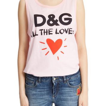 Dolce&Gabbana Lovers Graphic Tank Top | Nordstrom
