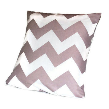Grey Chevron PIllowcase //Throw Pillow // Couch Pillow // Medium Pillowcase // Zippered Pillowcase // Envelope Pillow