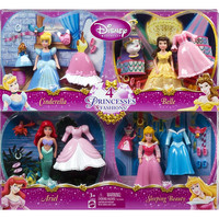 Disney Princess Favorite Moments Small Dolls 4-Pack - Cinderella/Belle/Ariel/Sleeping Beauty