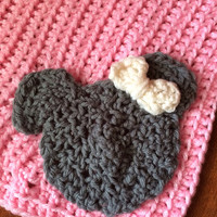 Disney inspired Minnie Mouse Baby Blanket