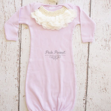 Newborn baby gown, lavander newborn girl take home outfit, baby girl gown, infant, take home outfit, newborn girl outfit, baby girl,gift
