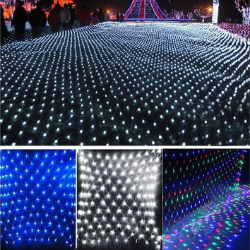 2M x 2M 144 Led Bulbs Net Fairy Lights For Xmas Party Wedding Outdoor Decoration(EU Plug)  W_L SV008166 [7981679495]
