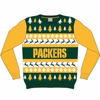 Green Bay Packers Ugly Holiday Sweater (Green) - Festified