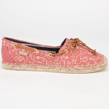Sperry Top-Sider Katama Womens Espadrilles Red Whale  In Sizes