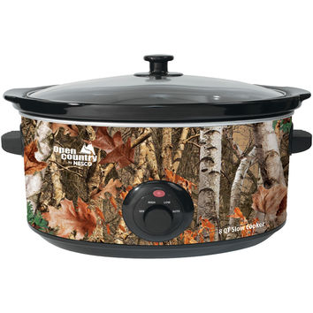 Open County By NESCO SC-8017 Portable 8-Quart Woodland Birch Slow Cooker