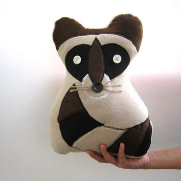Raccoon pillow, bedroom, Decorative pillow, Home Decor, kids room, nursery room, toys,ornament, gift, pillow, housewares, gift for Christmas