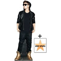 *FAN PACK* - Justin Bieber wearing Gold shoes / Trainers Lifesize Cardboard Cutout / Standee - INCLUDES 8X10 (25X20CM) STAR PHOTO - FAN PACK #372