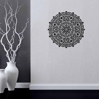 new arriving home decal mandala wall sticker indian buddha symbol creative art murals room decoration vinyl