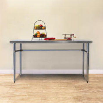 Flat Top Preparation Table With Open Base and no Back Splash - Kmart