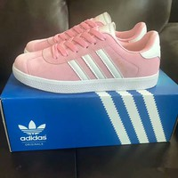 """""""Adidas"""" Women Casual Fashion Multicolor Stripe Plate Shoes Sneakers"""