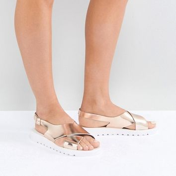 ASOS FREQUENT Jelly Flat Sandals at asos.com