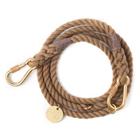 Natural Rope Dog Leash, Adjustable