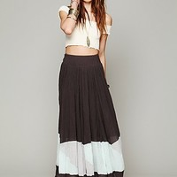 Free People Manina Colorblock Skirt