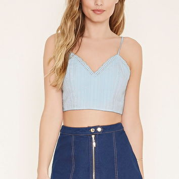 Crochet-Trim Cropped Cami | Forever 21 - 2000153299