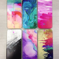 Personal Tailor Tie-dyed Case Cover for iPhone 7 7 Plus & iPhone 5s se 6 6s Plus + Gift Box-467