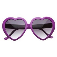 Amazon.com: Large Oversized Womens Heart Shaped Sunglasses Cute Love Fashion Eyewear- Black: Shoes
