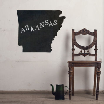 Arkansas Chalkboard State wall decal