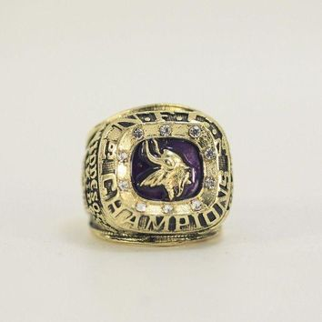 DCCKWA2 SPORTS RING * 1974 MINNESOTA 'VIKINGS' WORLD * CHAMPIONS/ ...fast delivery