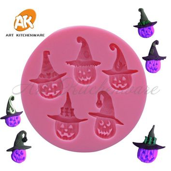 Little Pumpkin Siliocne Mold Halloween Cartoon Silicone Fondant Cake Mold Cookie Stamp Pastry Baking Tools for Cake Mould SM-004