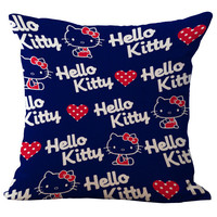 Blue background Hello Kitty Pillow