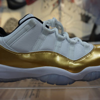 Nike Air Jordan Retro 11 Low Gold Closing Ceremony  Basketball Sneaker  AJ11 528895-103