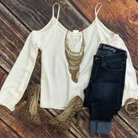 Attached Sleeve Top