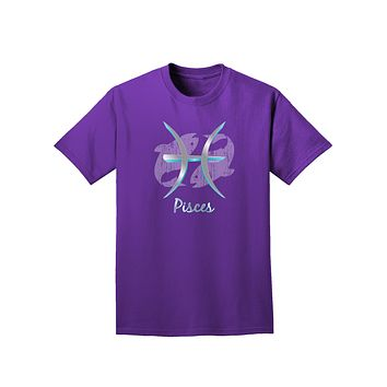 Pisces Symbol Adult Dark T-Shirt