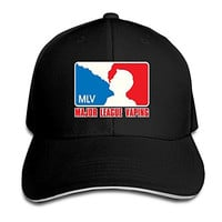 Major League Vaping Fitted Sandwich Baseball Cap Hat
