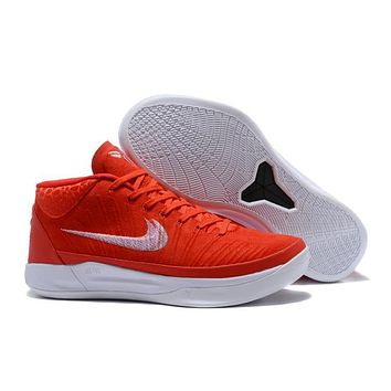 Nike Mens Kobe AD 13 Mid Red/White Basketball Shoes