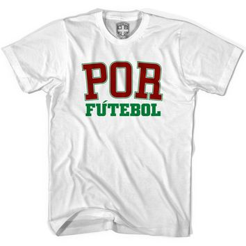 Portugal POR Soccer T-shirt-Adult