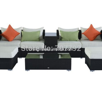 2017 Hot Sale Outsunny 8pcs Showy Deluxe Outdoor Tattan Sofa Set