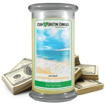 Life's A Beach! | Cash Greeting Candle