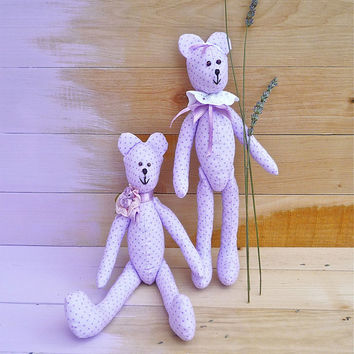 Tilda Bear,Handmade,Textile bear,Lavender decorations,Tilda bear for kids,baby room decorations,home decor,Sympathy Remembrance Gift