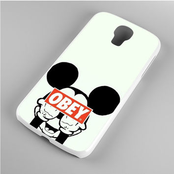 Mickey Mouse Obey Samsung Galaxy S4 Case